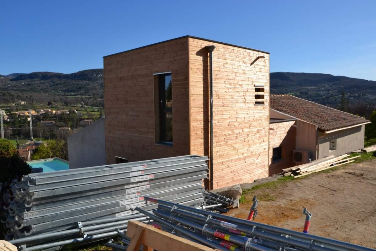 Faire construire une extension ou agrandissement de maison for Realiser une extension ossature bois