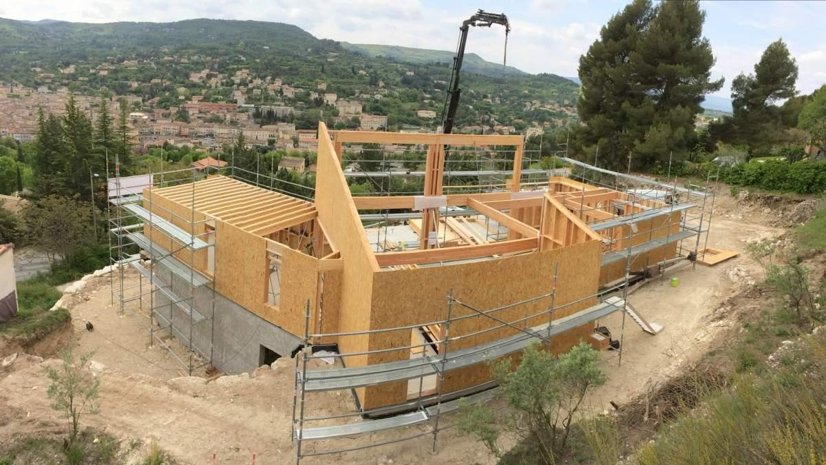 Nous r alisons le gros oeuvre de votre maison en ossature bois en vaucluse 84400 apt - Prix des gros oeuvres maison ...