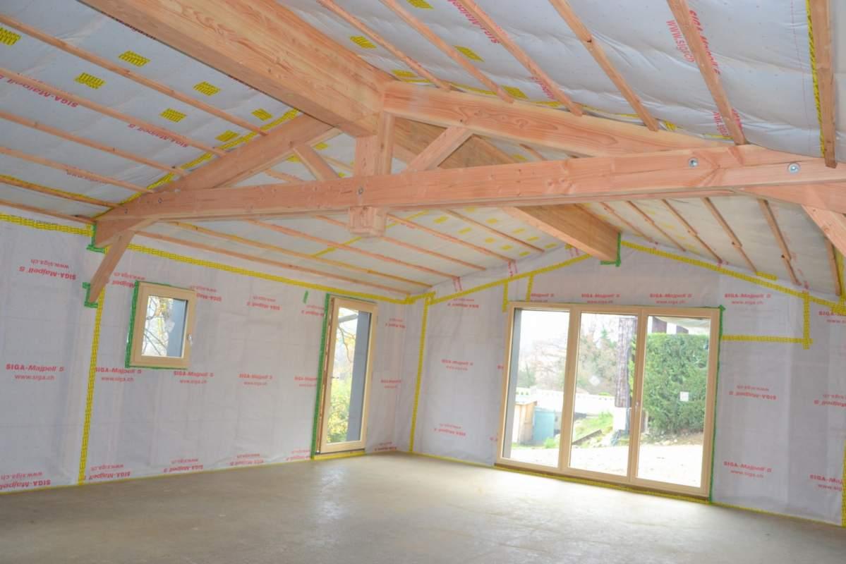 Construction d 39 une maison ossature bois lagnes 84 for Construction bois 87