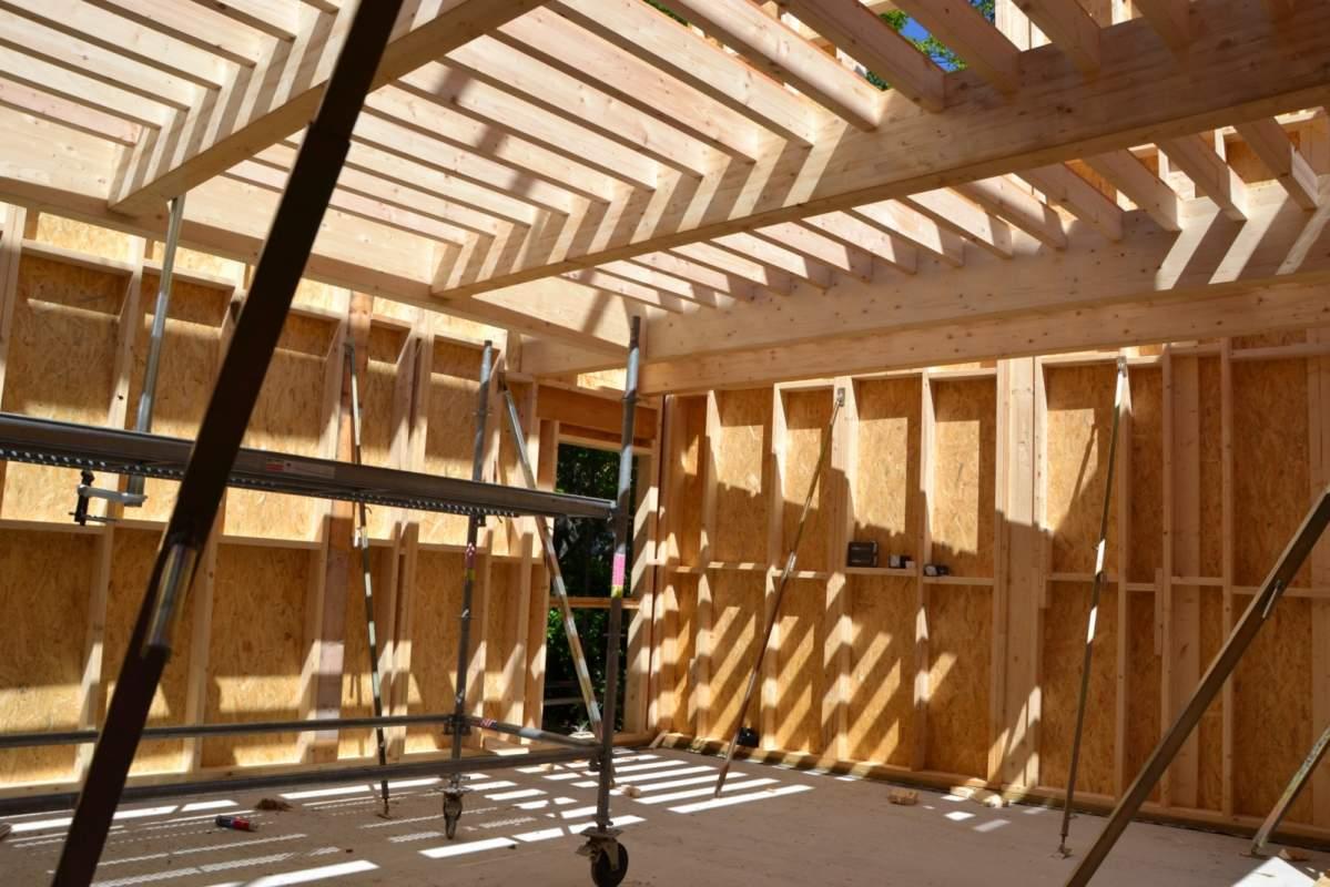 Extension à Ossature bois dune maison traditionnelle à Aix en provence (
