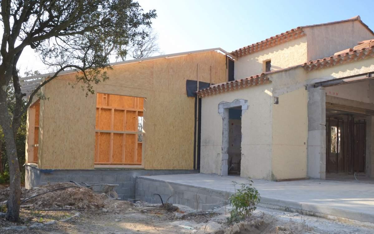 Extension en ossature bois à l Isle sur La Sorgue (84) en Vaucluse