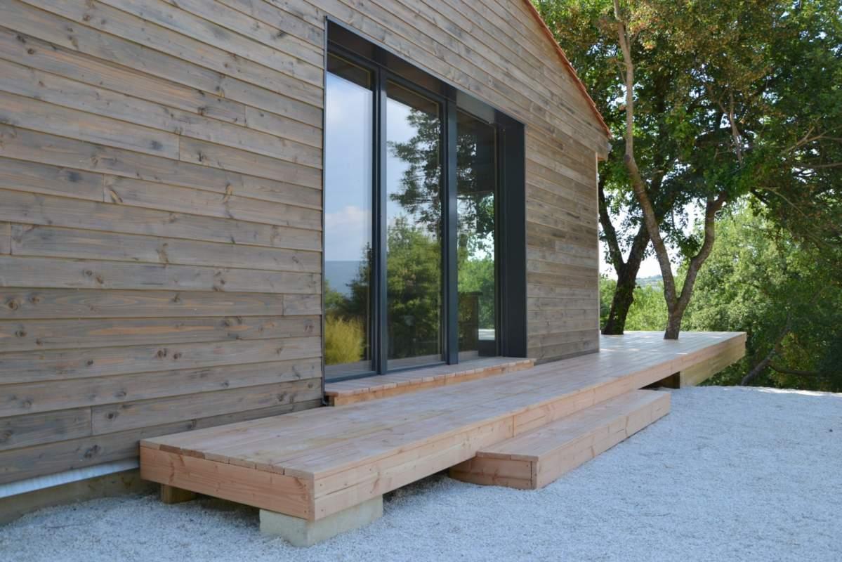 construction d 39 une maison ossature bois lagnes 84