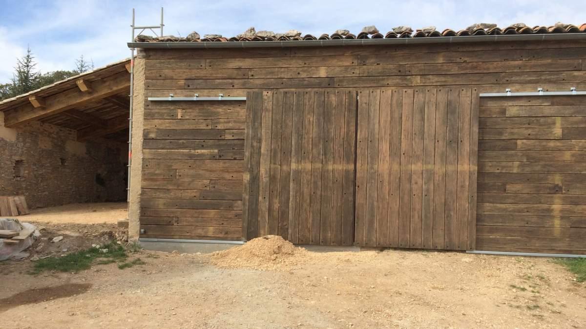 Vieux Portail En Bois fabrication d'un portail coulissant en vieux bois