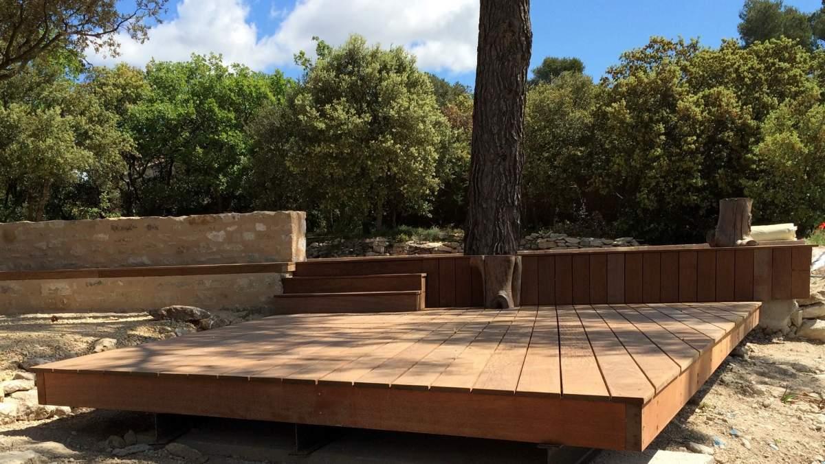 Création D Une Terrasse Bois Et Deck Piscine En Provence 84