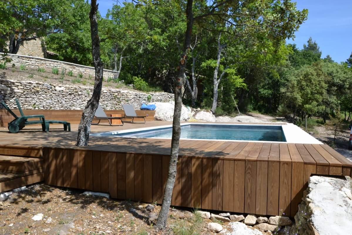et pose dun deck de piscine  Bonnieux (84480)  Constructeur de
